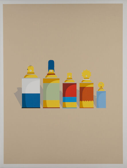 Ewkuks..., 'Simpsons Print', 2019