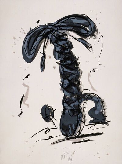 Claes Oldenburg, 'Sneaker Lace in Landscape- Gray', 1991