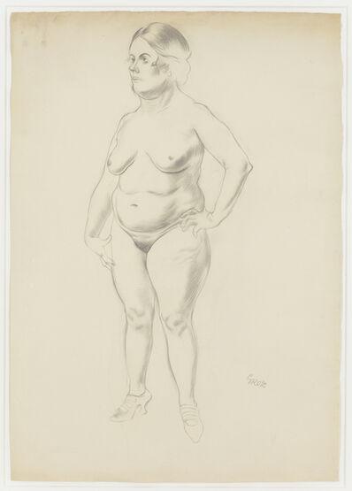 George Grosz, 'Stehender Weiblicher Akt (Standing Female Nude)', 1926