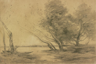 """Jean-Baptiste-Camille Corot, 'Study for """"Bank of the Pond after the Storm""""', ca. 1870"""