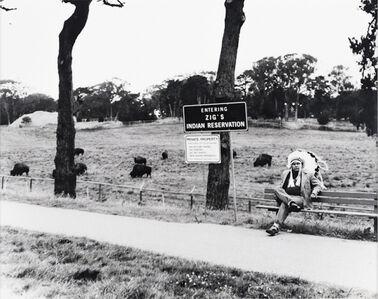 Zig Jackson, 'Buffalo Enclosure, Golden Gate Park (Entering Zig's Indian Reservation) #1 Of 4', 1997
