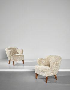 Flemming Lassen, 'Pair of armchairs', designed 1940