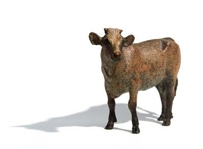 Joe Fafard, 'Autumn - small, bronze, cow, animal, sculpture', 2009