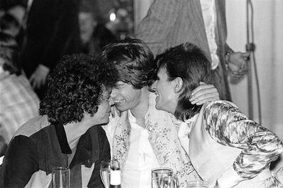 Mick Rock, 'Reed, Bowie, Jagger Cuddling', 1973