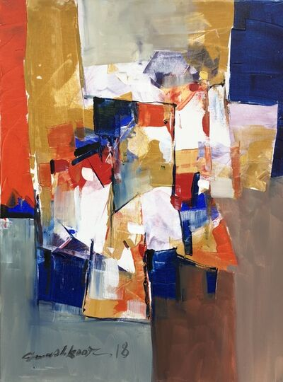 Mashkoor Raza, 'color composition', 2018