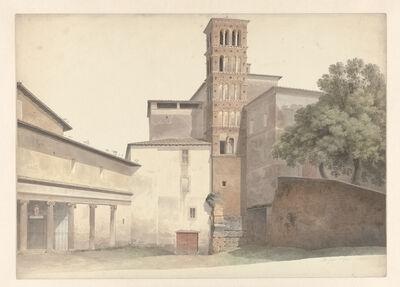 Josephus Augustus Knip, 'Basilica and Monastery of SS. Giovanni e Paolo in Rome', 1809-1812