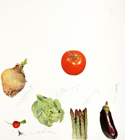 Jim Dine, 'Jim Dine, Vegetables, Lithograph with Collage, 1970', 1970
