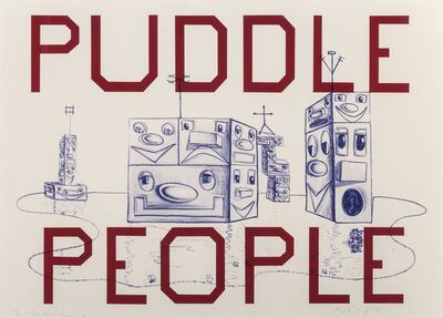 Ed Ruscha, 'Puddle People', 2016