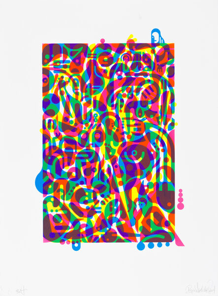 Ryan McGinness, 'Untitled (Fluorescent Women Parts) 3', 2014