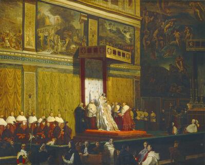 Jean-Auguste-Dominique Ingres, 'Pope Pius VII in the Sistine Chapel', 1814