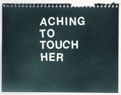 Betty Tompkins, 'Aching To Touch Her (black)'
