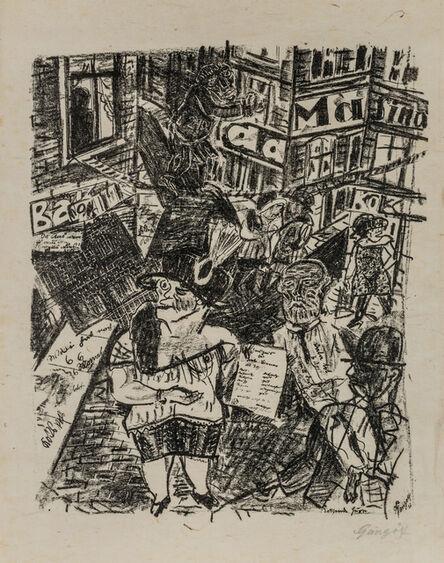 Paul Gangolf, 'KOKSENDE HURE', 1925