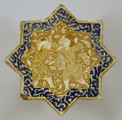 'Star Tile with Combat Scene', 13th century