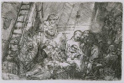 Rembrandt van Rijn and Studio of Rembrandt van Rijn, 'The Circumcision in the Stable', 1654