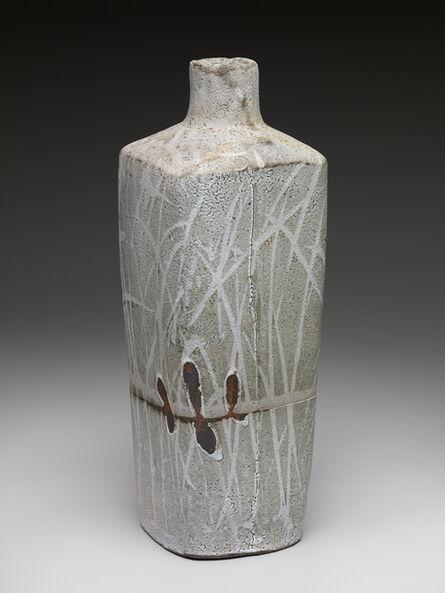 Randy Johnston, 'Square vase, nuka glaze over iron slip with brush decoration', ca. 2015