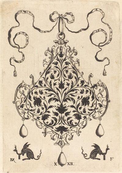 Daniel Mignot, 'Large Pendant, Ornamental Foliage Design', 1596