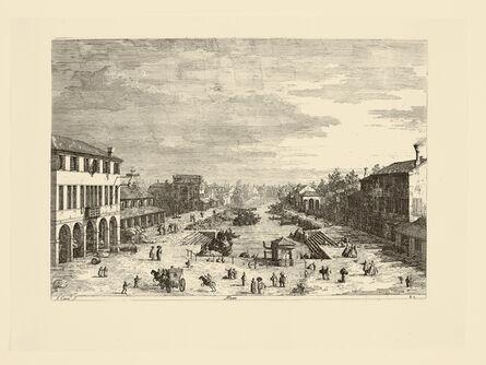 ANTONIO CANAL called CANALETTO, 'Mestre', ca. 1741-44