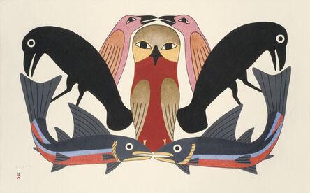 Kenojuak Ashevak, 'Owl's Consort', 2012
