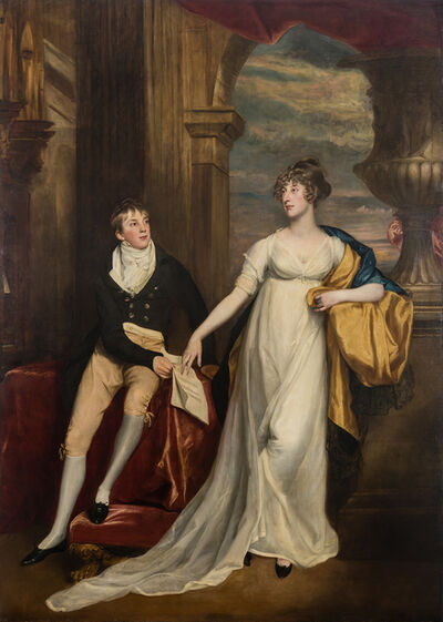 John Singleton Copley, 'Portrait of Mary Montagu and Her Brother, Robert Copley', 1804