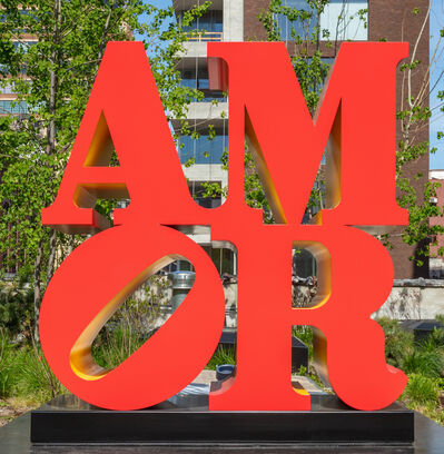 Robert Indiana, 'AMOR (Red, Yellow)', 1998-2006
