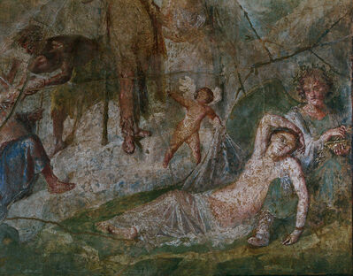 'Ariadne and Dionysus on the Island of Naxos (detail of a fresco from Pompeii)', 1st century A.D.