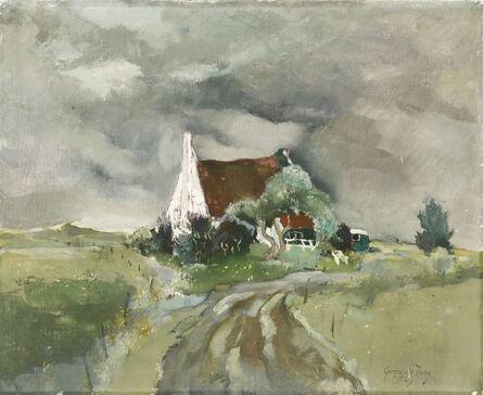Germ de Jong, 'A HOUSE IN AN OPEN LANDSCAPE, AMELAND'