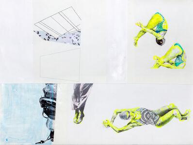 Ruby Onyinyechi Amanze, 'the divers II [ada, a pool, a bike, windows and birds] ', 2021