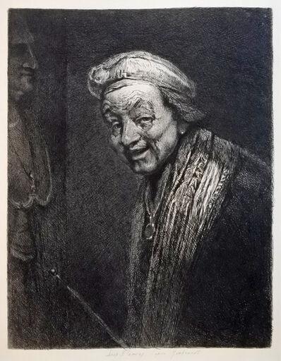 Leopold Flameng, 'D'après Rembrandt', 1868