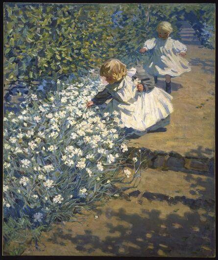 Helen Galloway McNicoll, 'Picking Flowers', ca. 1912
