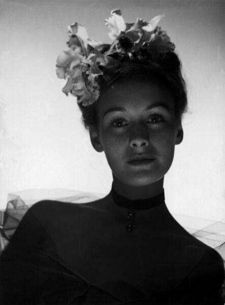 Werner Bischof, 'SWITZERLAND. Zurich. Fashion picture. A model wearing orchids. ', 1941