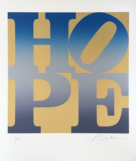 Robert Indiana, 'HOPE, Winter (Four Seasons of Hope, Gold Suite)', 2012