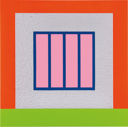 Peter Halley, 'White Prison', 2017