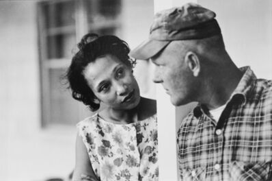Grey Villet, 'Mildren and Richrd Loving on porch of their home in King and Queen county, Virginia, 1965', 1965