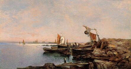 Leontine von Littrow, 'Fishing Boats in Venice', 1890