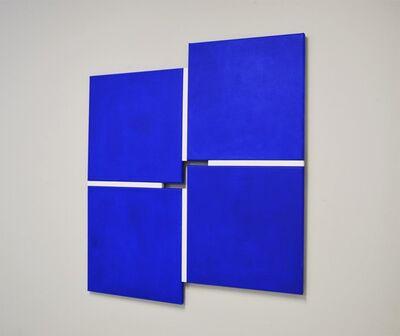 Tineke Porck, 'Shifts 242020, 4-parts blue-white', 2020