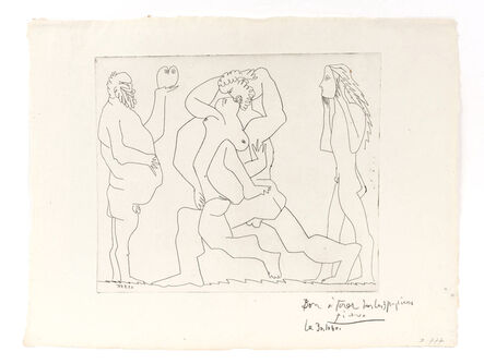 Pablo Picasso, 'Bacchanal with Owl and Young Man in a Mask', 1961
