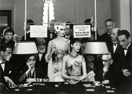 Richard Avedon, 'Sunny Harnett and Alla, Evening Dresses by Balmain, Casino, Le Touquet, August 1954', 1954
