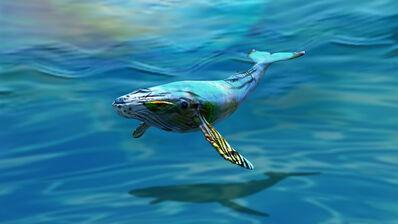 Carla Gannis, 'DADEA 04 (Blue Whale)', 2020