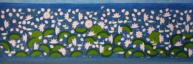 """Yugal Kishore Sharma, 'Lotus Pond, Wash on Cloth by Contemporary Artist """"In Stock""""', 2010-2019"""