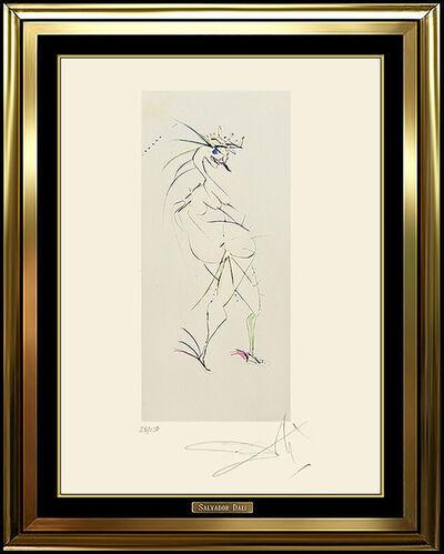 Salvador Dalí, 'Salvador Dali Original Color Etching Authentic HAND SIGNED Surreal Nude Artwork', 1950-1969