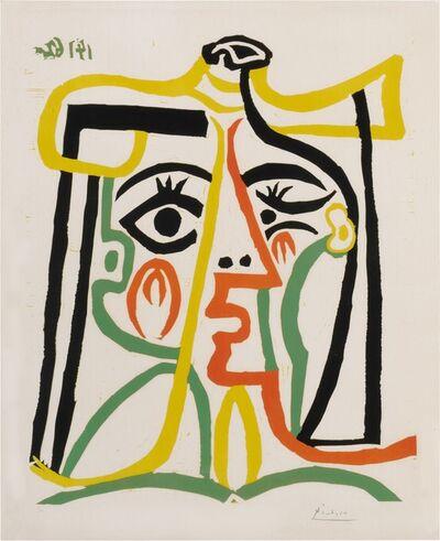 Pablo Picasso, 'Portrait De Jacqueline Au Chapeau De Paille', 1962