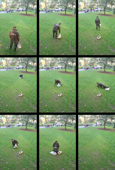Bill Beirne, 'Madison Square Trapezoids, with Performances by the Vigilant Groundsman', 2009