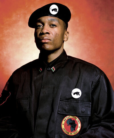 Andres Serrano, 'Brother Divine Allah, N.J. Chairman of The New Black Panther Party (America)', 2002