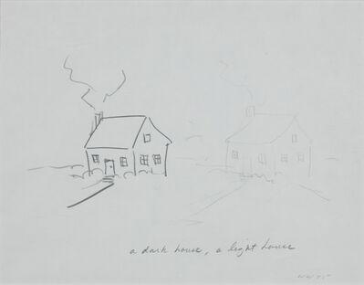 William Wegman, 'House with Thin Door/Dark House, Light House', 1975