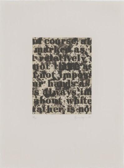 Glenn Ligon, 'White #1', 1995