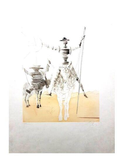 """Salvador Dalí, 'Rare Original Etching """"Don Quixote and Sancho"""" by Salvador Dali', 1980"""
