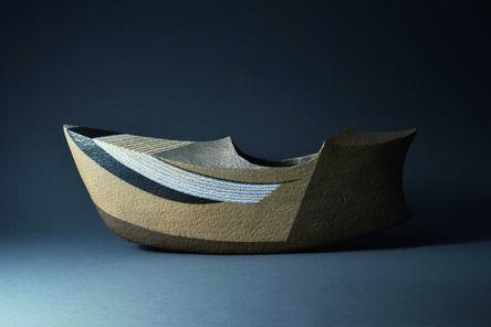"""Saeki Moriyoshi, 'Vase """"Silver Waves"""" ', 2012"""