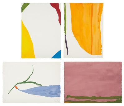 Helen Frankenthaler, 'Four Pochoirs', 1970