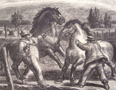 Harry Herman Wickey, 'Stallion and Mare', 1936