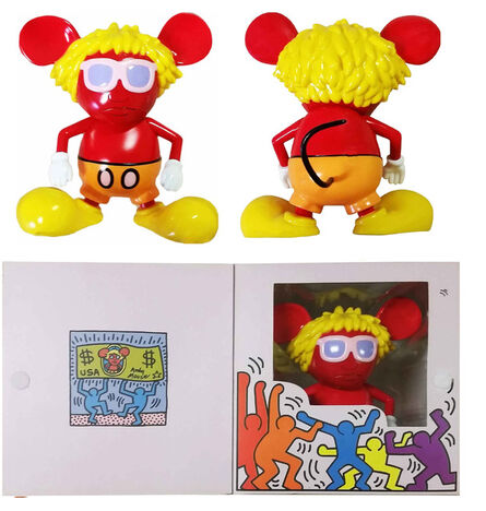 """Keith Haring, '""""Andy Mouse""""(RED), Edition of 1000, 360 Toy Group Japan.', 2005"""